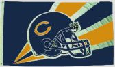 4 of 3' x 5' Chicago Bears NFL licensed flag, Helmet design, AMERICAN MADE FLAG with grommets