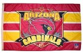 4 of 3' x 5' Arizona Cardinals NFL licensed flag, End Zone design, AMERICAN MADE FLAG with grommets.