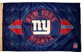 4 of 3' x 5' New York Giants NFL licensed flag, End Zone design, AMERICAN MADE FLAG with grommet