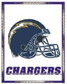 4 of 3' x 5' San Diego Chargers NFL licensed flag, Helmet design, AMERICAN MADE FLAG with grommets.