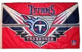 4 of 3' x 5' Tennessee Titans NFL licensed flag, End Zone design, AMERICAN MADE FLAG with grommets.
