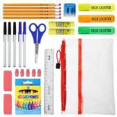 48 of 15 piece Wholesale Kids School Supply Kit