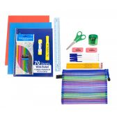 24 of 24 piece Wholesale Kids School Supply Kit