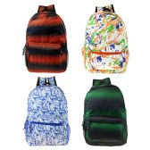 "24 of 17"" Wholesale Backpack in 4 Assorted Colors"