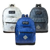 "24 of 17"" Wholesale Backpack in 3 Assorted Space Dye Colors"