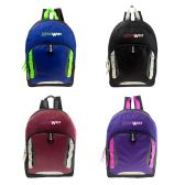 24 of Backpack in 4 Assorted Colors 17""