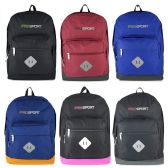 "24 of 17"" Kids Sport Backpacks in 6 Solid Colors"