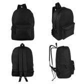 """24 of 17"""" Kids Basic Black Backpacks"""
