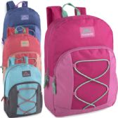 24 of Trailmaker 17 Inch Bungee Backpack With Side Pocket - 5 Colors Girls