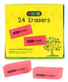 240 of Pink Bevel Rubber Erasers