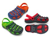 36 of Men's Two Tone Garden Clogs with/ Adjustable Straps - Assorted Colors