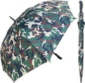 "12 of 60"" Auto-Open Camoflauge Print Umbrellas with Rubber Handle"