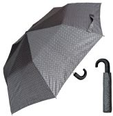 "12 of 44"" Auto-Open Mini Umbrellas with/ Hook Handle - Assorted Grey Prints"