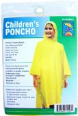 24 of Children's Vinyl Emergency Ponchos - Yellow
