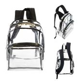 "24 of 17"" Clear Backpacks with Black Trim"