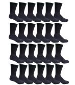 240 of Men's Black Cotton Crew Sock Size 10-13 - Mens Crew Socks