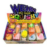 60 of Slow Rising Squishy Toy Key Chain Assortment