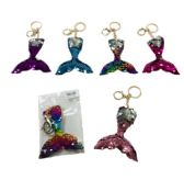 96 of Reversible Sequin Key Chain Mermaid Tail