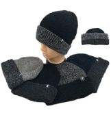 36 of Plush Lined Knit Toboggan Two Tone