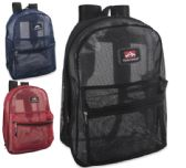 24 of Trailmaker 17 inch Mesh Backpack - 3 colors