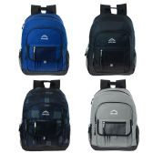 24 of 17 Inch Premium Backpack in 4 Assorted Colors
