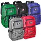 24 of Trailmaker 18 Inch Deluxe Mesh Backpacks- 5 Colors