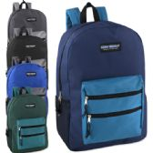 24 of High Trails 19 Inch Double Zip Backpack With Two Side Mesh pockets