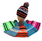 24 of Detroit PomPom Knit Hat