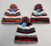 48 of Knitted Hat with PomPom Embroidered CINCINNATI Stripes