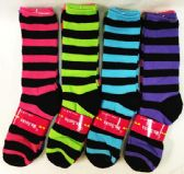 72 of Women's Bright Colored Stripes Knee Highs