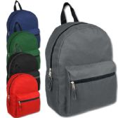 24 of 15 Inch Basic Backpack - 5 Assorted Colors