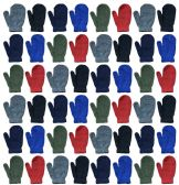 120 of Assorted Kids Mittens In Many Colors