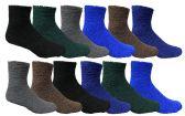 60 of Mens Warm Cozy Fuzzy Socks, Size 10-13