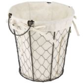 24 of Wire Basket With/ cotton Liner