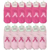 12 of Yacht & Smith Womens Breast Cancer Awareness Slipper Socks