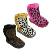 36 of Girl's Assorted Color Animal Print Boots