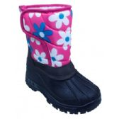 18 of Girls' Floral and Black Winter Boot