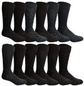 12 of Yacht & Smith Mens Fashion Designer Dress Socks, Cotton Blend Assorted
