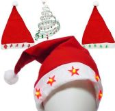 60 of Flashing Santa Hats With Music