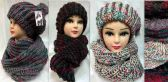 24 of Knitted Winter Hat And Scarf Set Assorted
