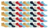 60 of 60 Pairs of SOCKSNBULK Kids Solid Colored Fuzzy Socks, #464,Assorted,4-6