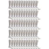 60 of Yacht & Smith Men's King Size Loose Fit Non-Binding Cotton Diabetic Crew Socks White Size 13-16