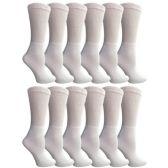 12 of Yacht & Smith Women's Cotton Diabetic Non-Binding Crew Socks - Size 9-11 White
