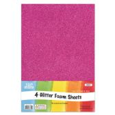 96 of Eva Glitter Sheet Fuschia Foam