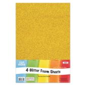 96 of Eva Glitter Sheet Gold Foam
