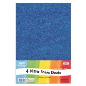 96 of Eva Glitter Sheet Blue Foam