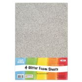 96 of Eva Glitter Sheet Silver Foam