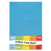 72 of Eva Glitter Sheet Sky Blue Foam