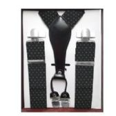 12 of Pattern Suspenders Black & White Polka Dot