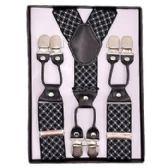 12 of Pattern Suspenders Black & White